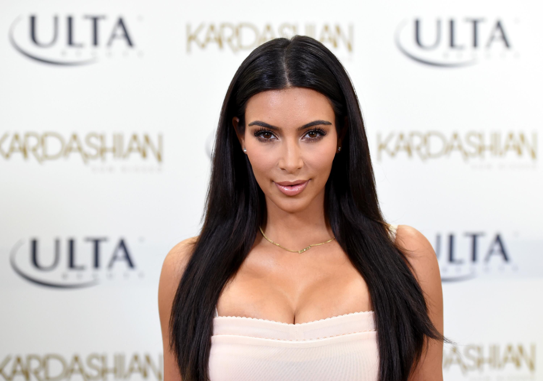 Kim Kardashian Promotes Kardashian Sun Kissed At ULTA Beauty In Los Angeles