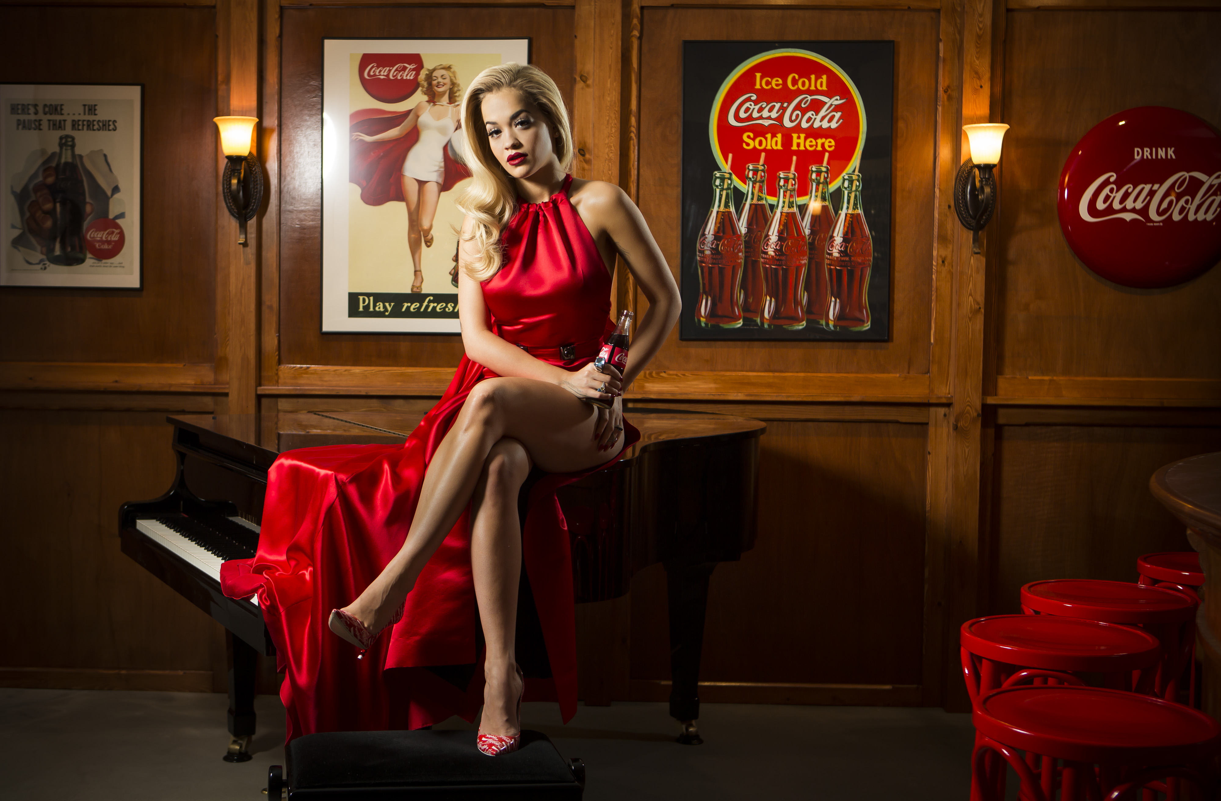 Rita Ora Kicks Off Celebrations For 100th Anniversary Of The Iconic Coca-Cola Bottle At The Opening Of The Contour Centenary Bar