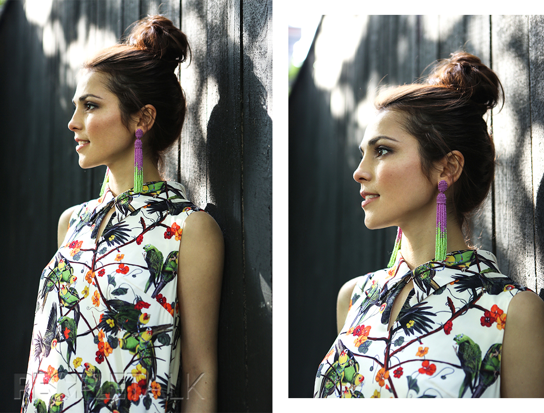 Платье, Vika Smolyanitskaya; серьги, T.skirt