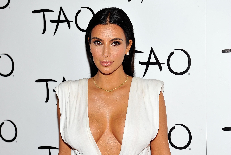 Kim Kardashian Celebrates Her Birthday At Tao Nightclub