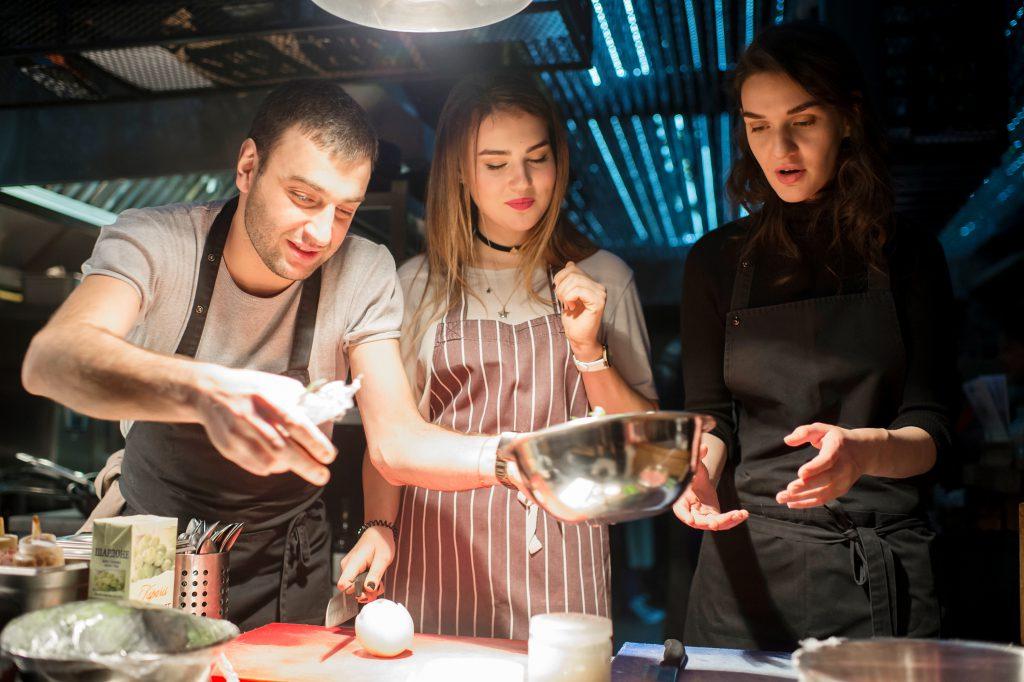 Ника Метревели, Анна Матыцына и Мари Коберидзе