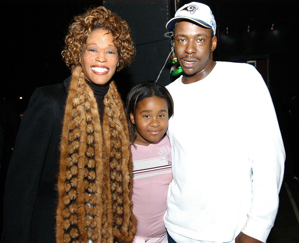 "Whitney Houston and Bobby Brown Attend ""Praise Power"" Concert"
