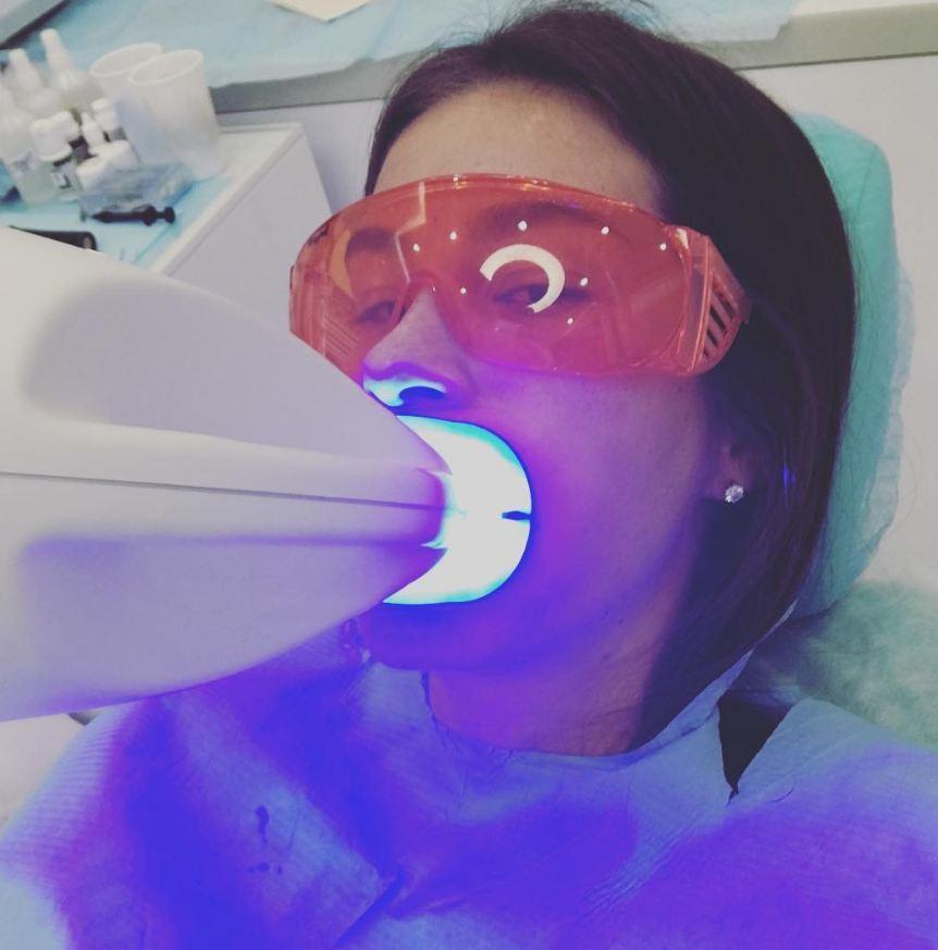 Кети Топурия побывала у стоматолога