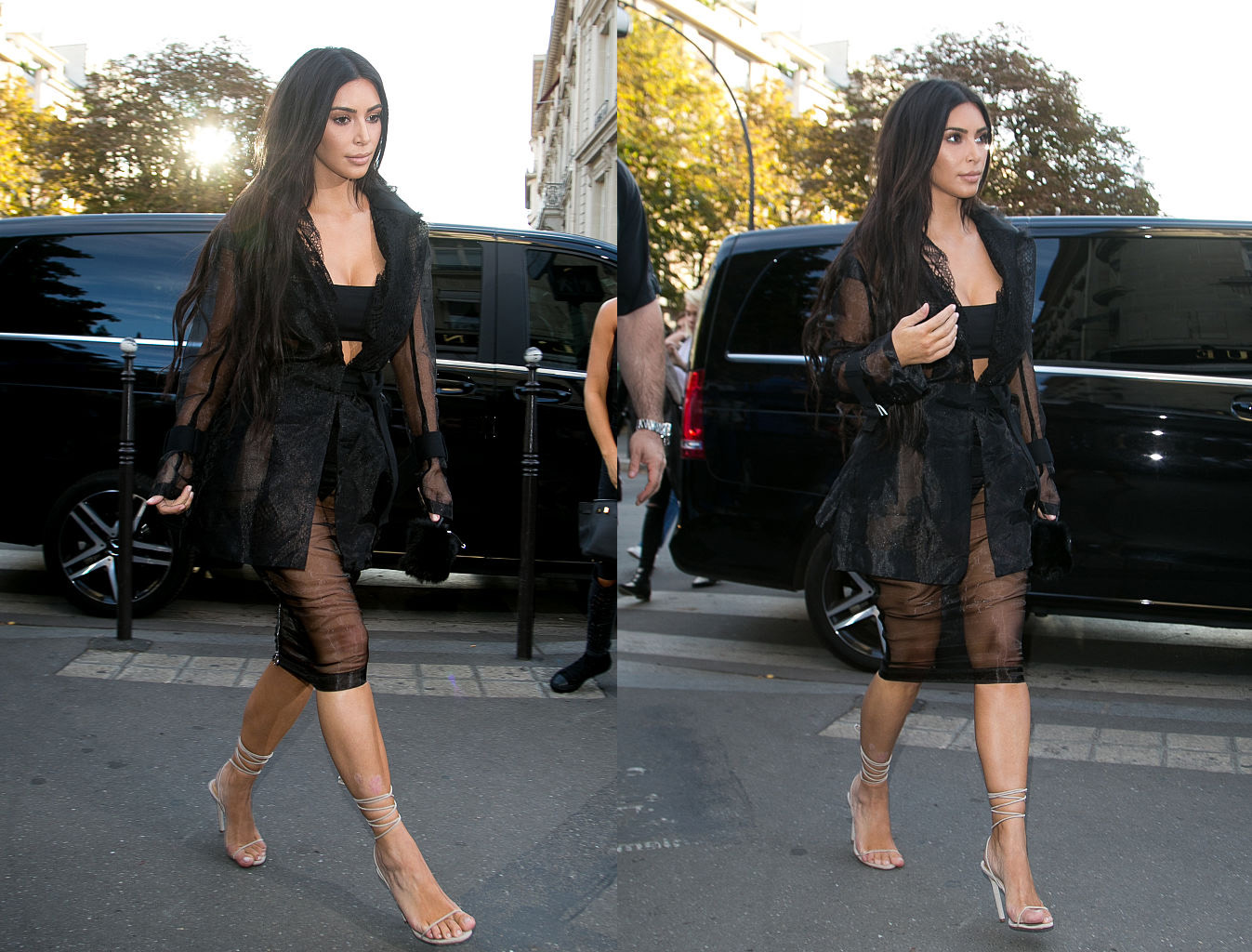 PARIS, FRANCE - SEPTEMBER 28:  Kim Kardashian West arrives at 'L'Avenue' restaurant on September 28, 2016 in Paris, France.  (Photo by Marc Piasecki/GC Images)