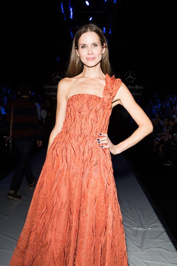 Наталья Лесниковская в платье Tony Ward