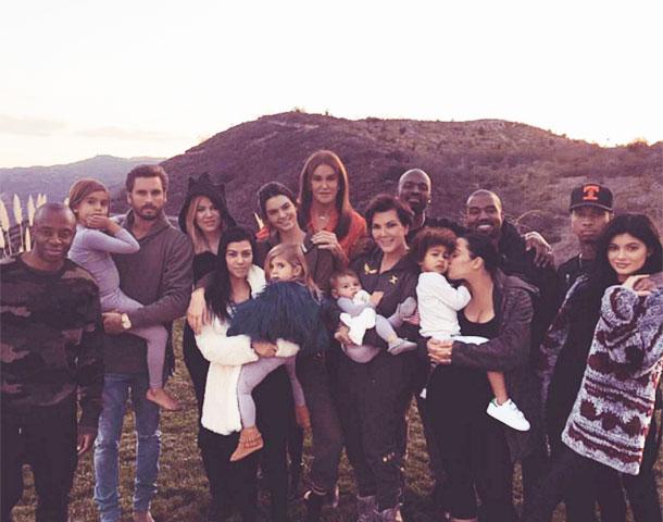 Семейство Кардашьян-Дженнер в полном составе