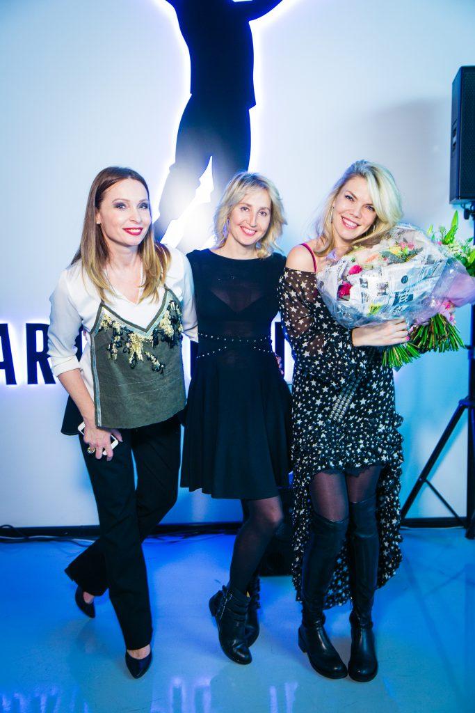 Евгения Попова, Оксана Бондаренко и Елена Нелидова