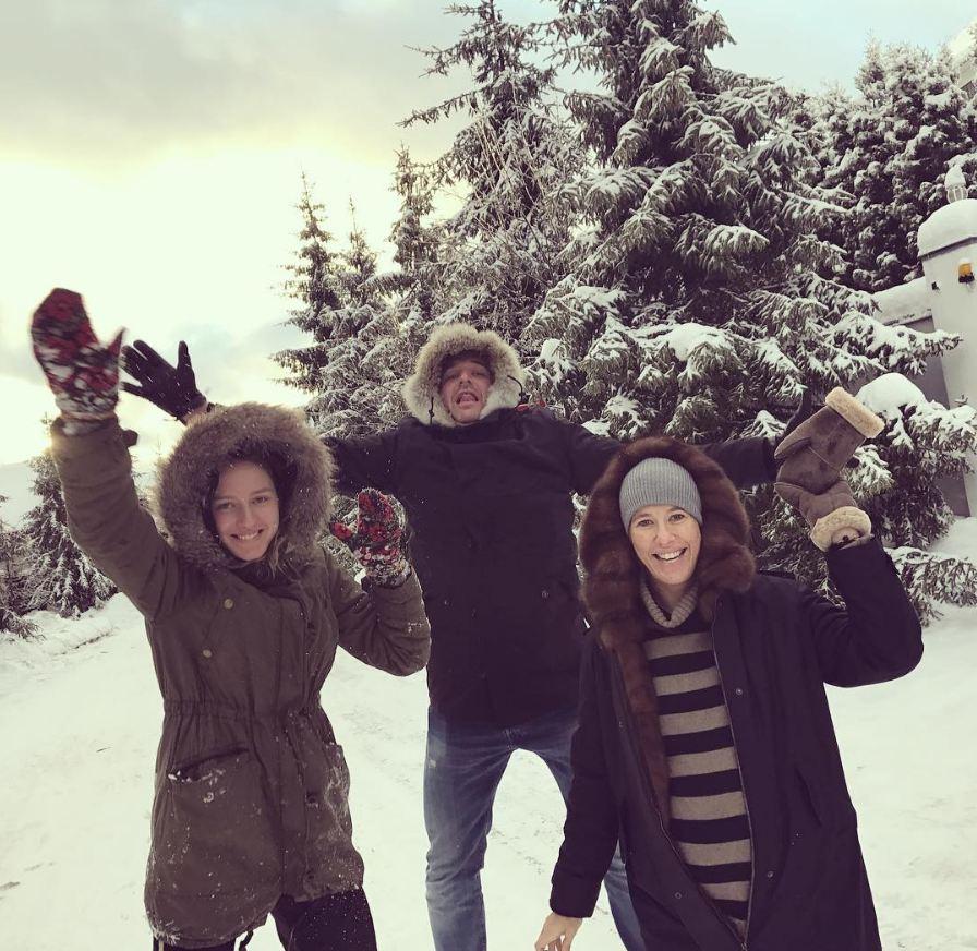 Ксения Собчак веселилась с мужем Максимом Виторганом и его дочкой Полиной