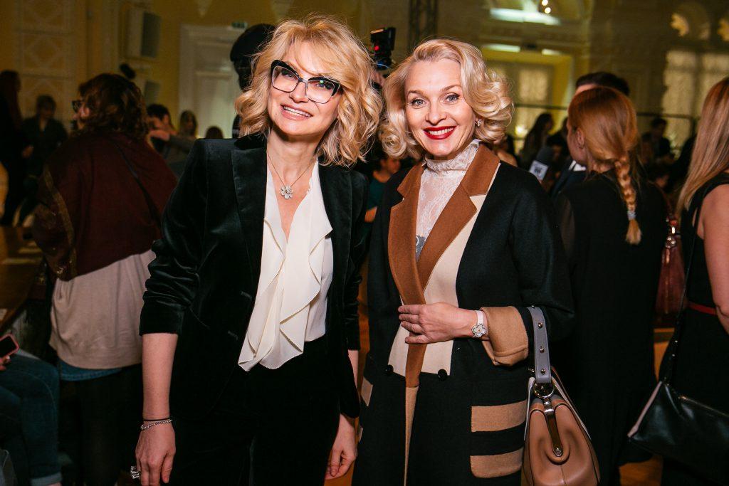 Эвелина Хромченко и Екатерина Моисеева на показе Max Mara
