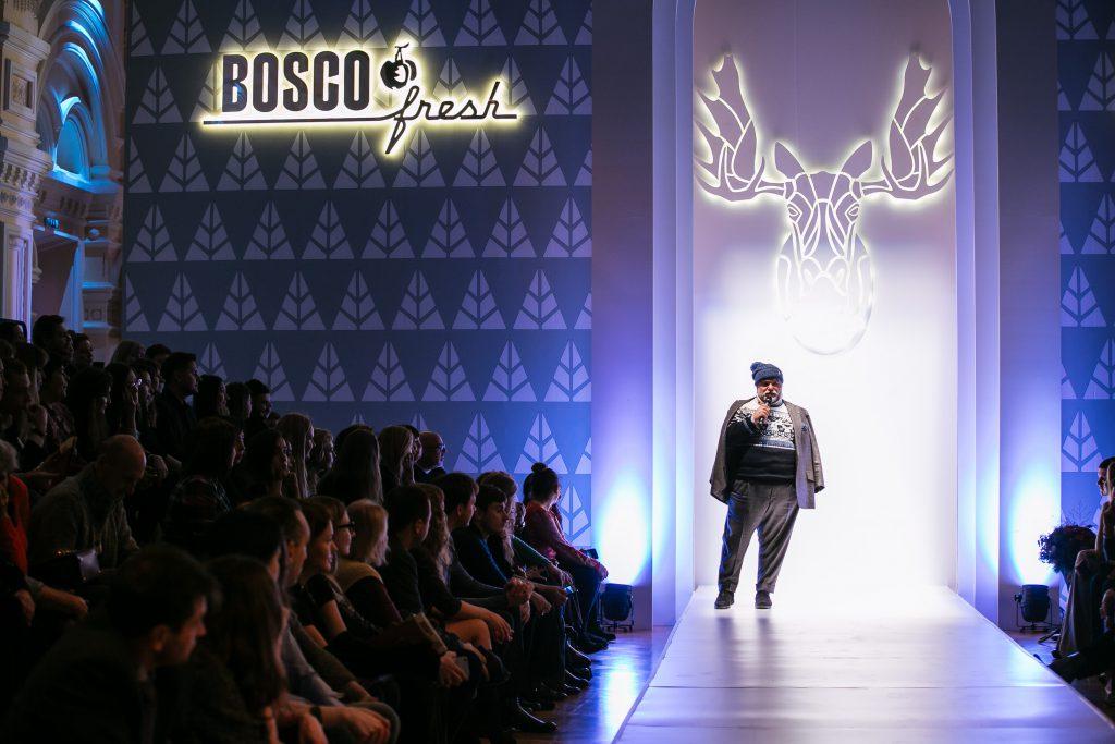 Михаил Куснирович на показе BOSCO Fresh