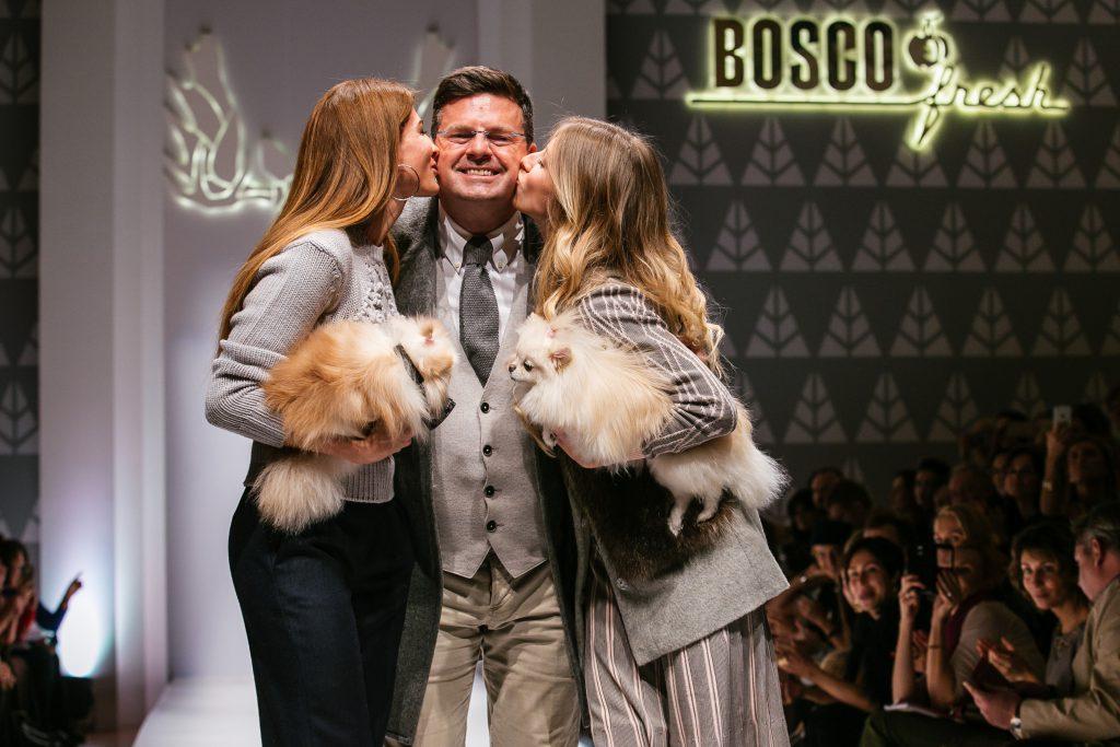 Ольга и Константин Андрикопулос, Кристина Цыпкина на показе BOSCO Fresh