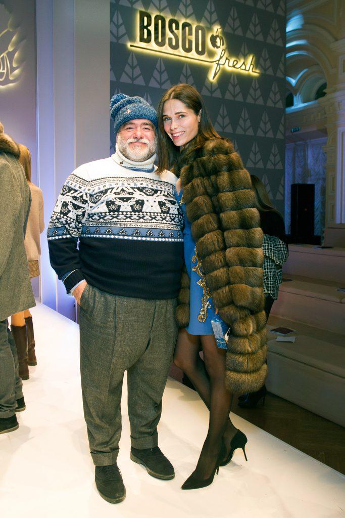 Михаил Куснирович и Полина Аскери на показе BOSCO Fresh