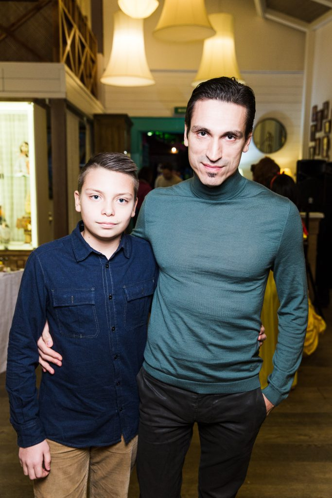 Илья Давыдов с сыном