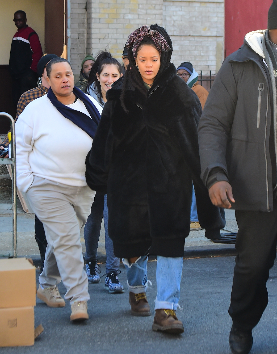 Rihanna is All Smiles as she Gets Back to Work on the set of Ocean's 8 in NYC
