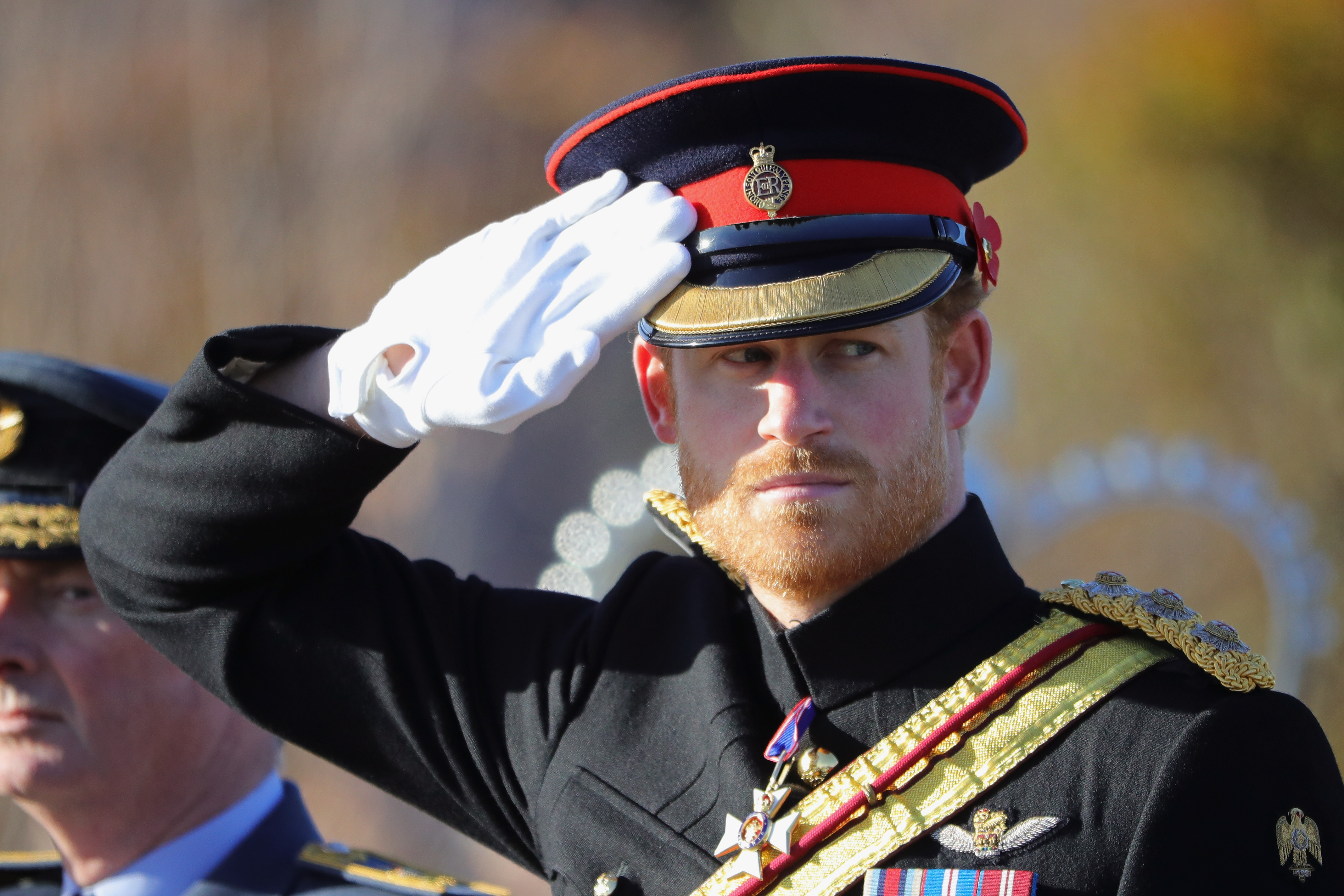 Prince Harry Attends The Armistice Day Service