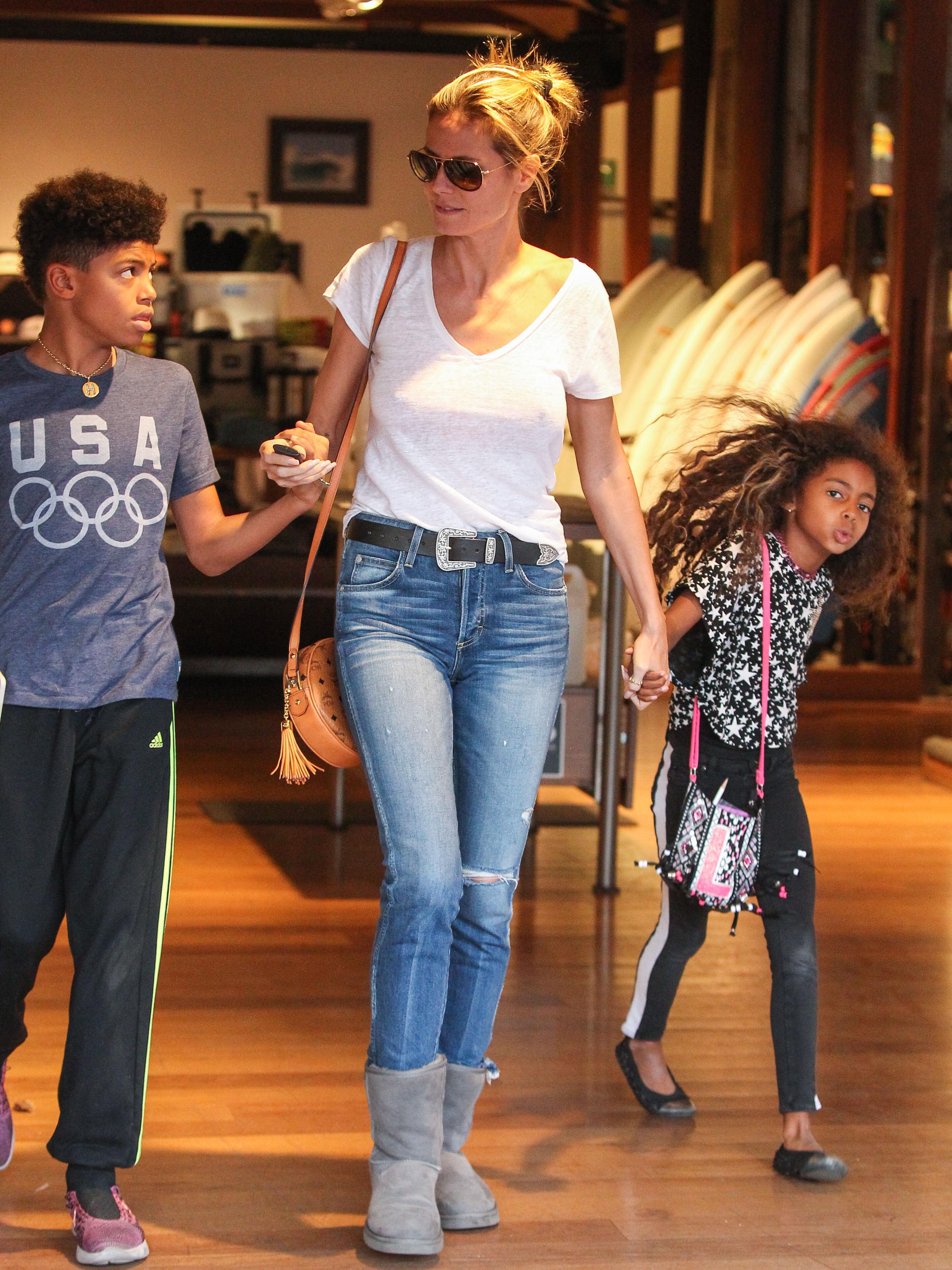 Heidi Klum and Seal seen shopping