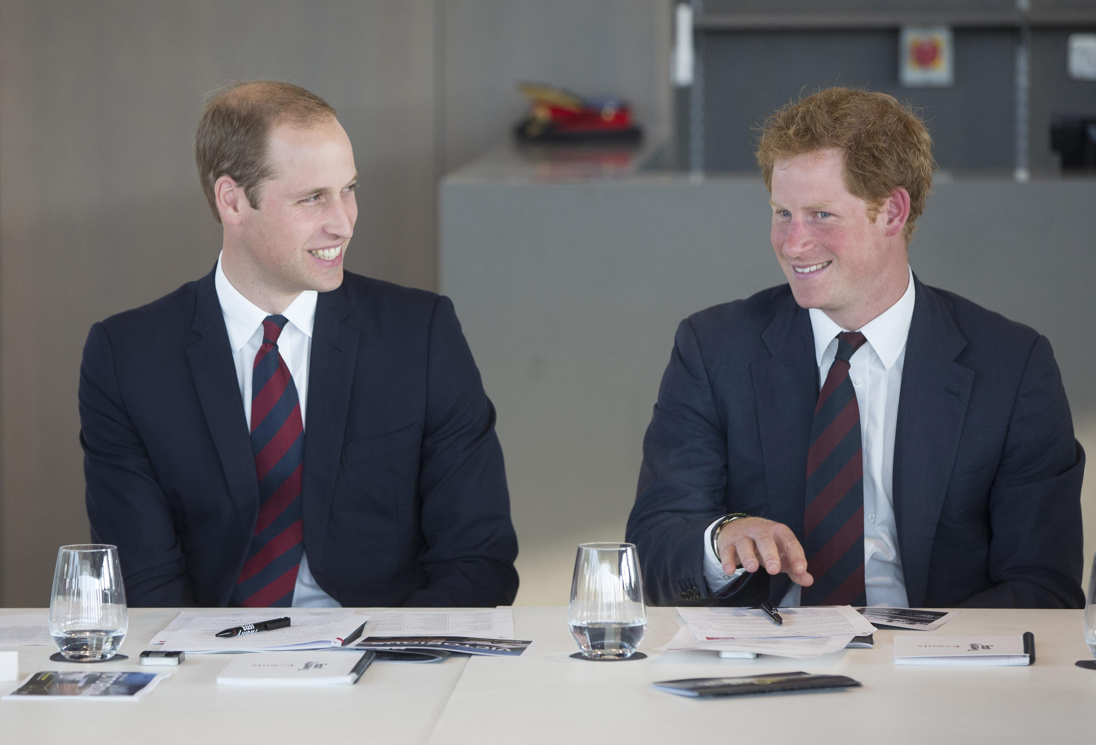 The Duke Of Cambridge And Prince harry Attend Business Leaders Employment Meeting