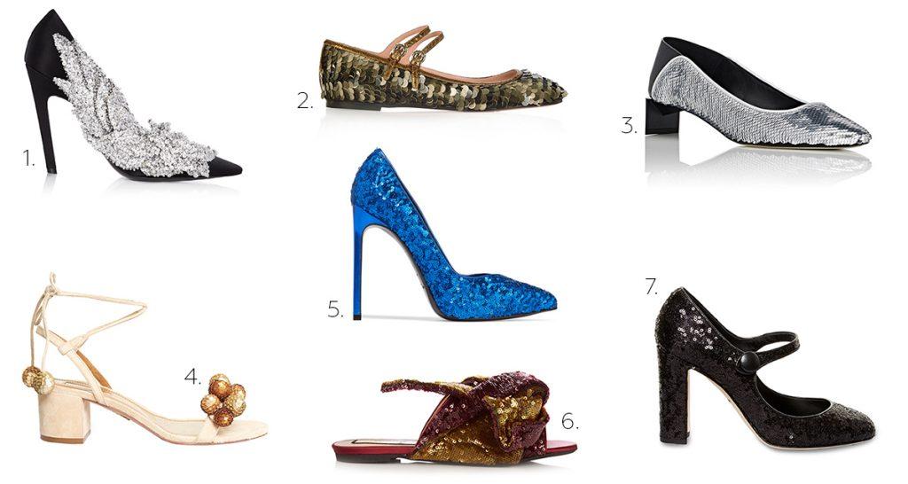1. Balenciaga. 2. Rochas. 3. Loewe. 4. Aquazzura. 5. Saint Laurent. 6. N°21. 7. Dolce & Gabbana