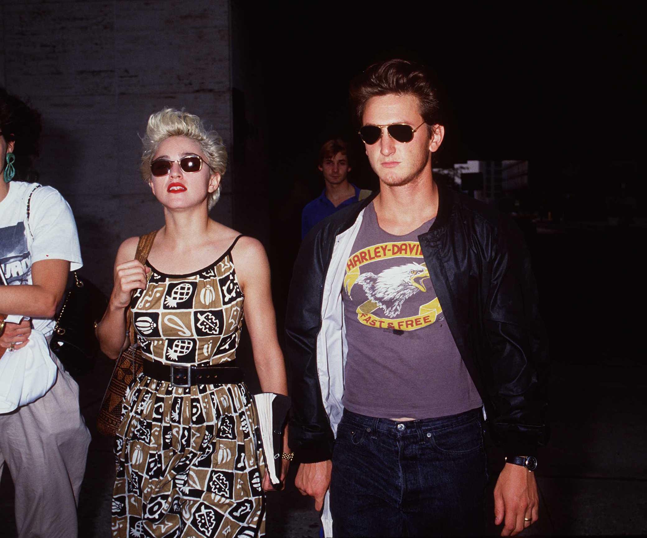 Мадонна и Шон Пенн в 1986
