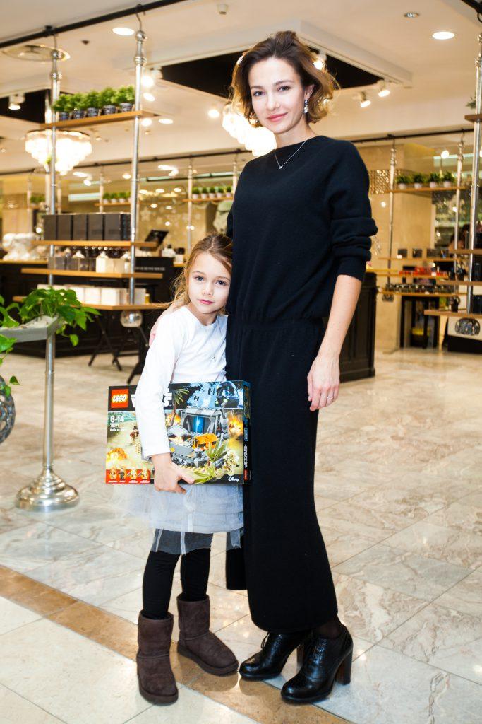 Евгения Брик и с дочкой Зоей