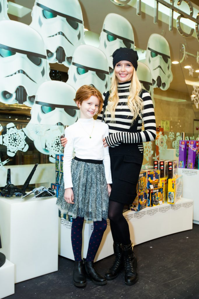 Анна Чурина с дочкой Ксюшей