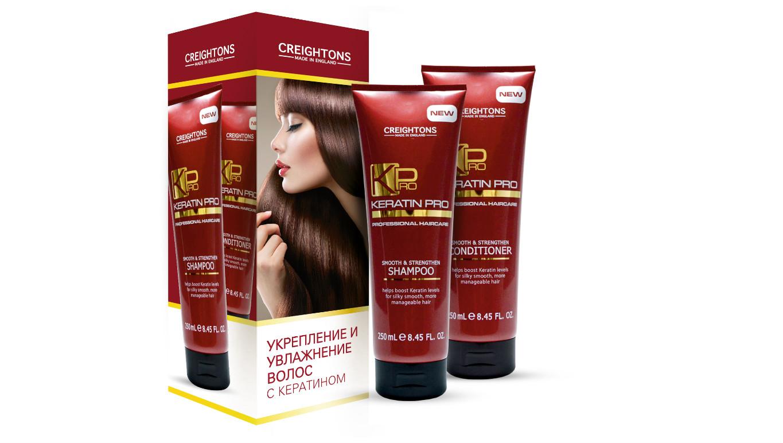 Дуо-набор «Укрепление и увлажнение волос» с кератином CREIGHTONS