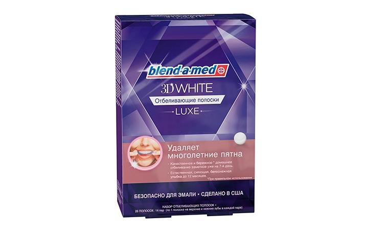Отбеливающие полоски для зубов, Blend-a-med 3D White Luxe