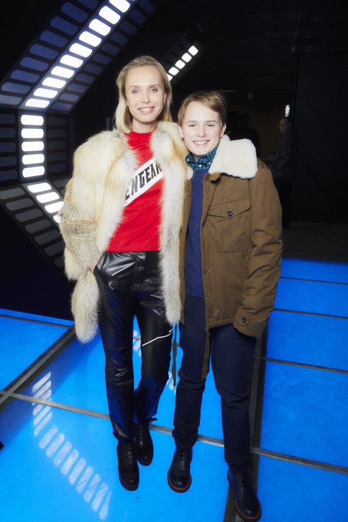 Илона Столье с сыном Филиппом