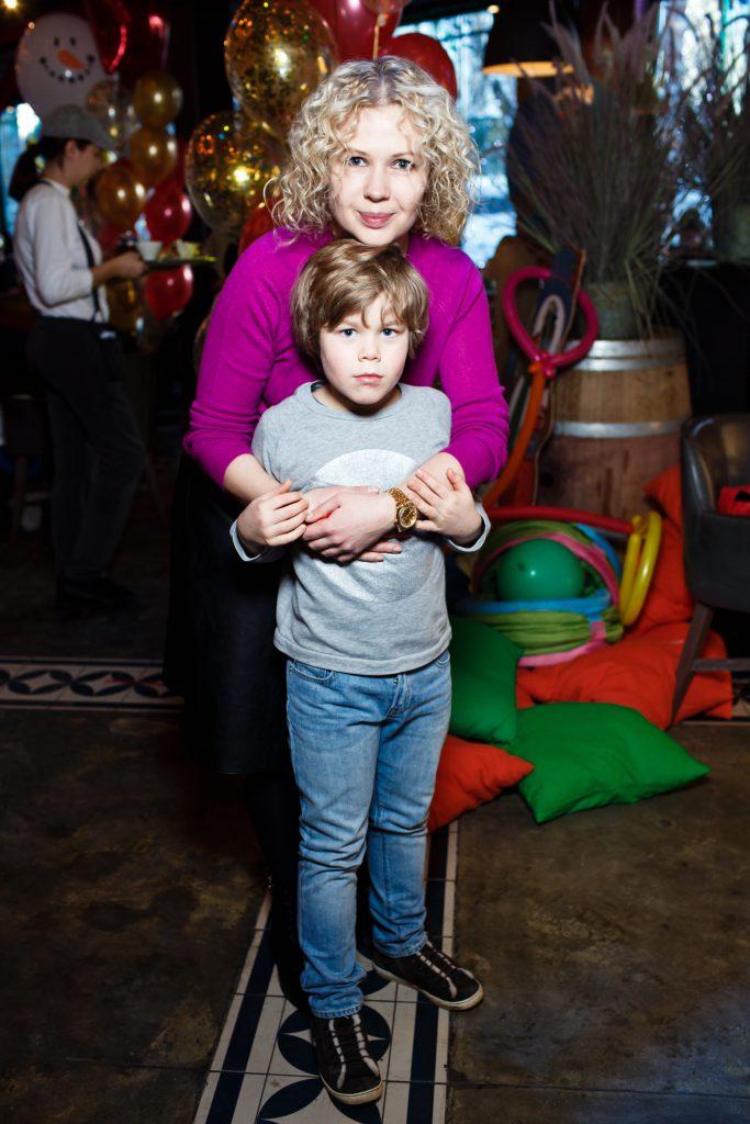 Галина Мазаева с сыном