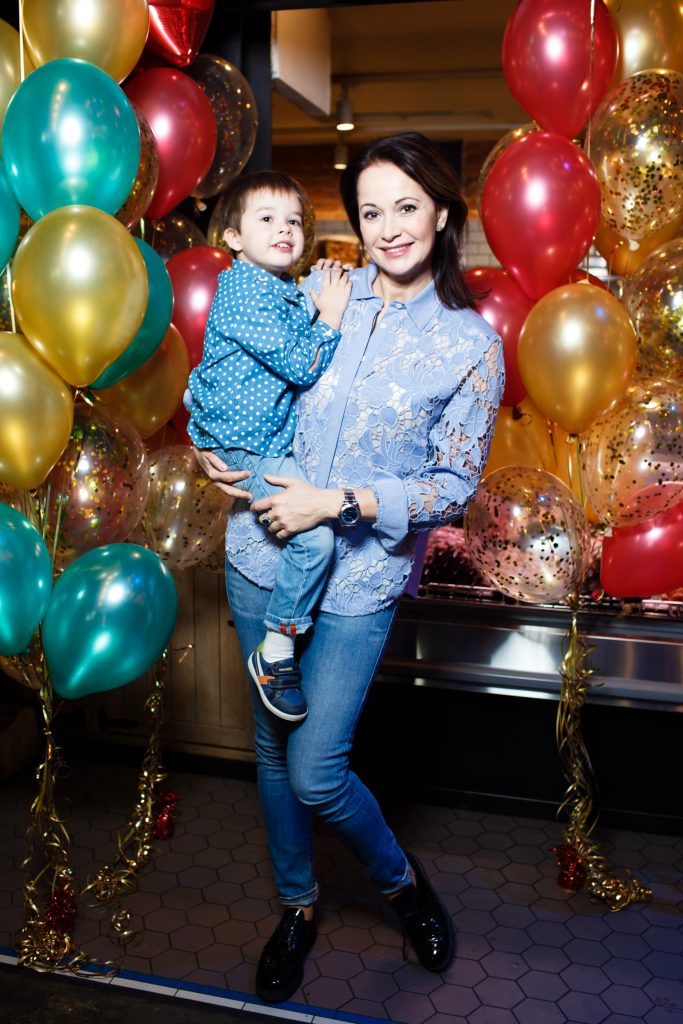 Ольга Кабо с сыном