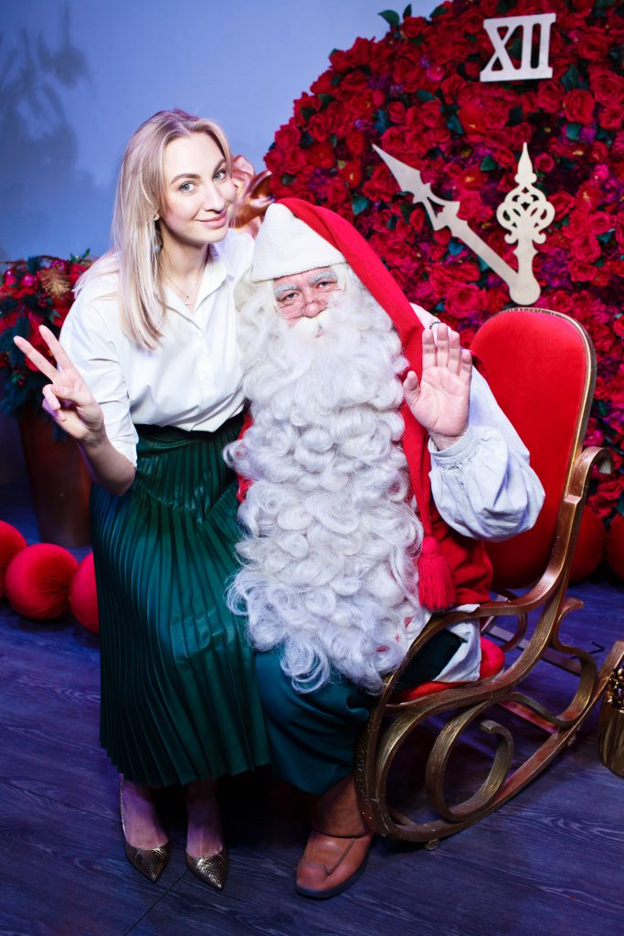 Мария Калмыкова и Санта-Клаус