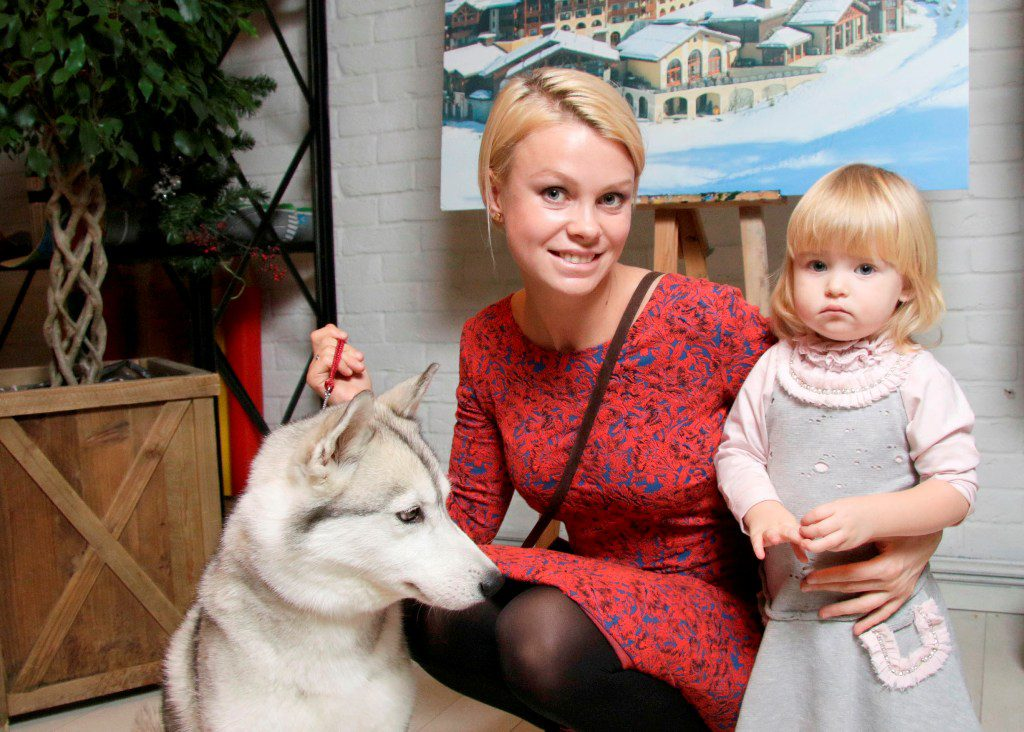 Евгения Осипова с дочерью Софией