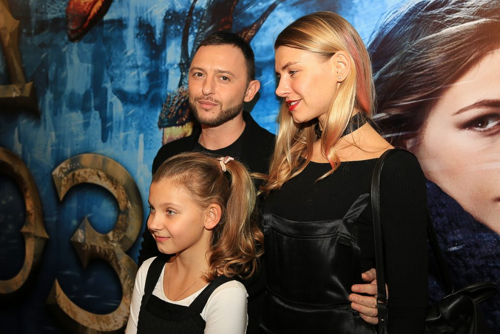 Роман Билык и Марина Королева с дочерью