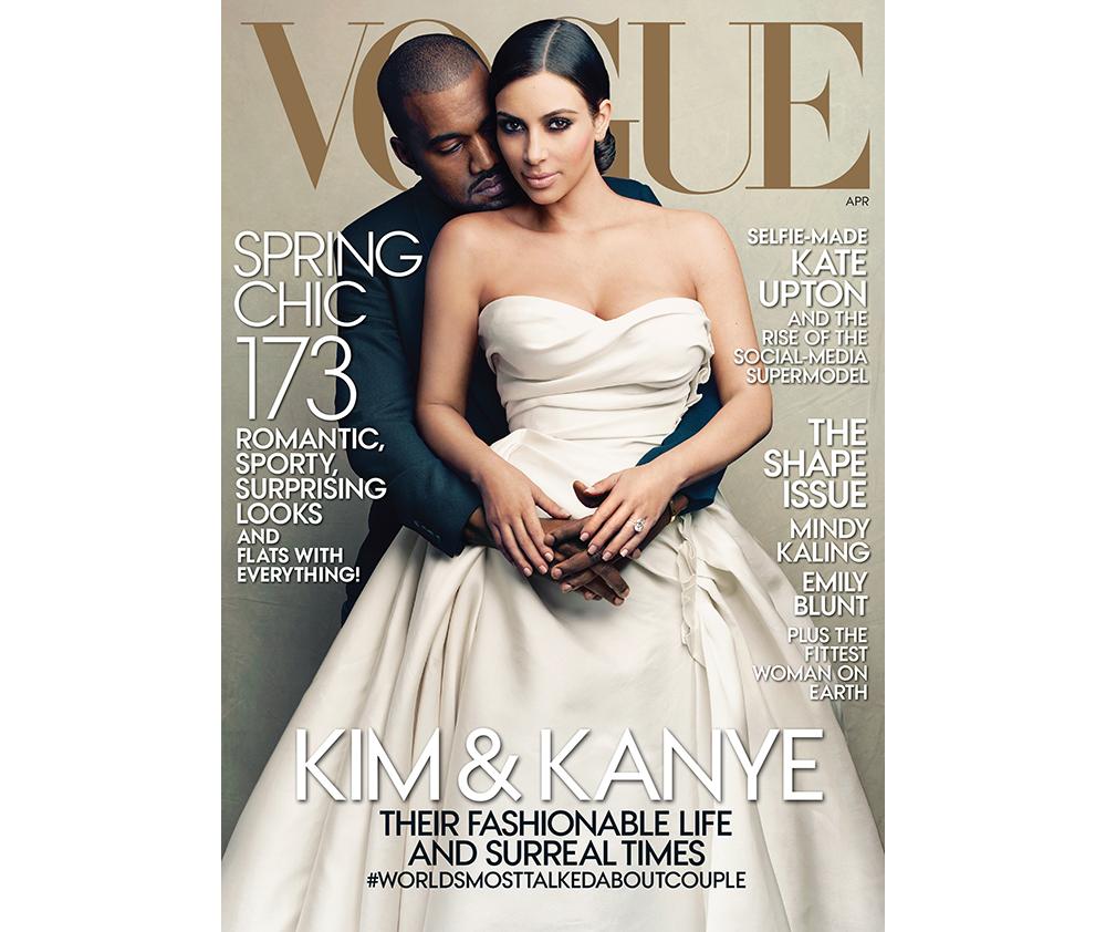 Ким Кардашьян и Канье Уэст Vogue