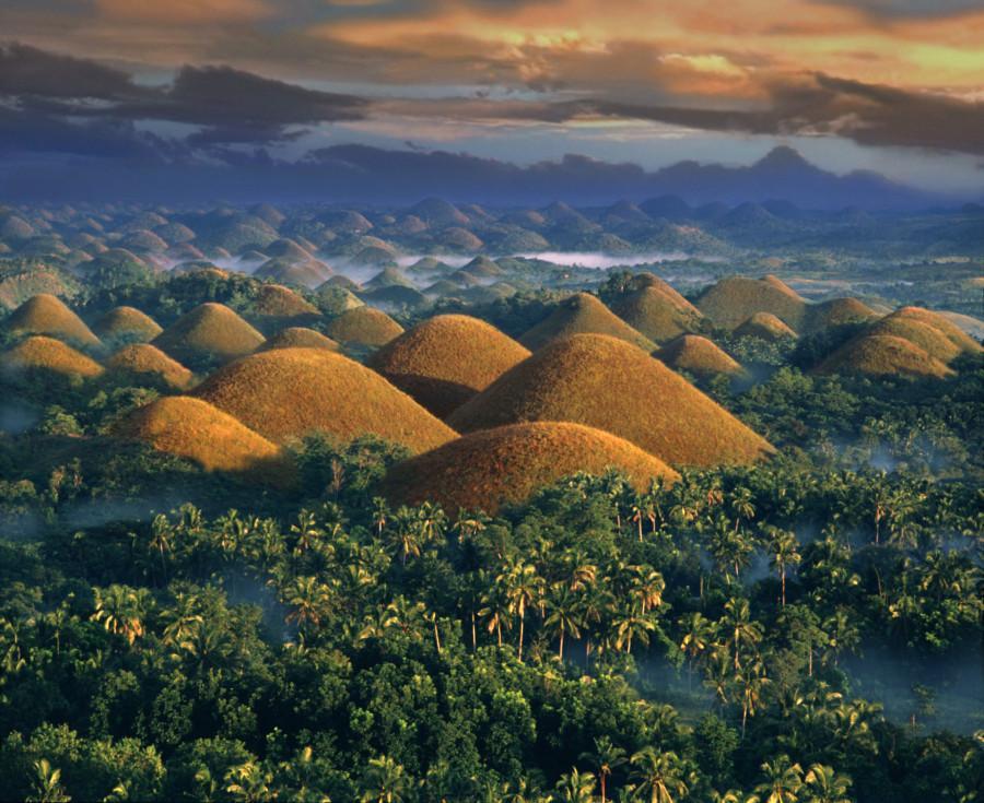 шоколадные холмы Филиппины бохол