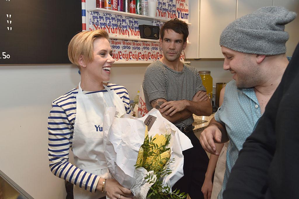 Скарлетт Йоханссон с мужем.