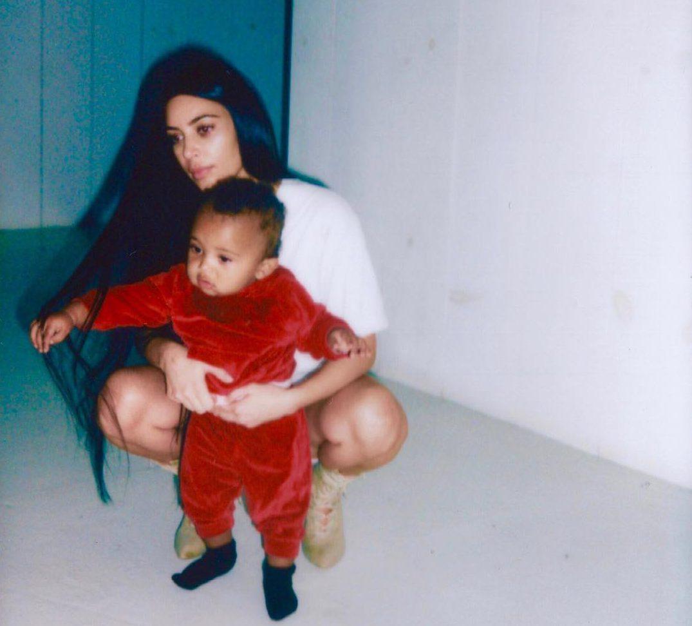 Ким Кардашьян с сыном