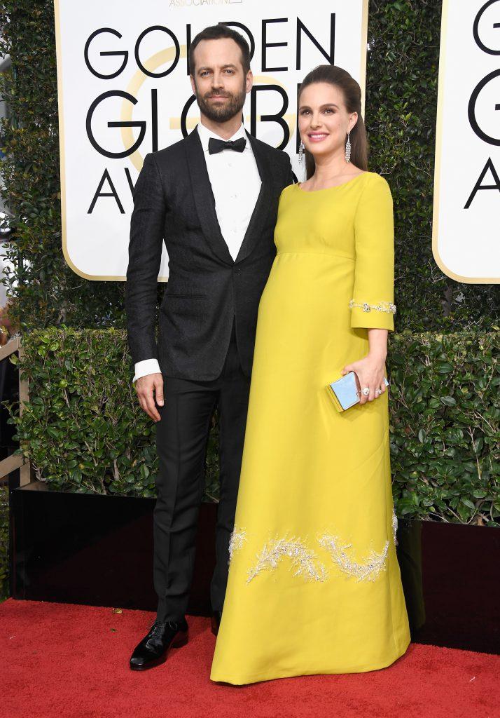 Бенджамин Мильпье и Натали Портман в украшениях Tiffany & Co