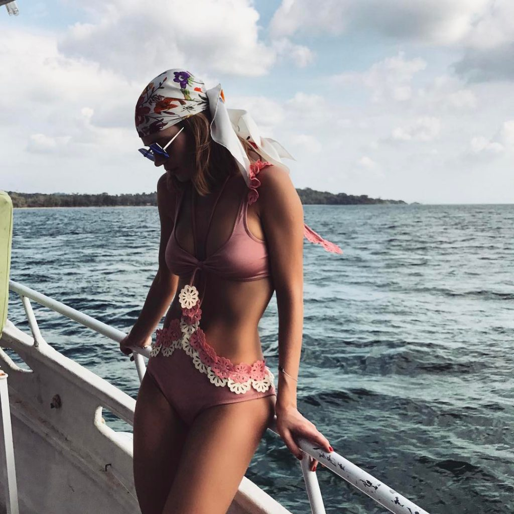 Наталья Чистякова-Ионова отдыхала на море