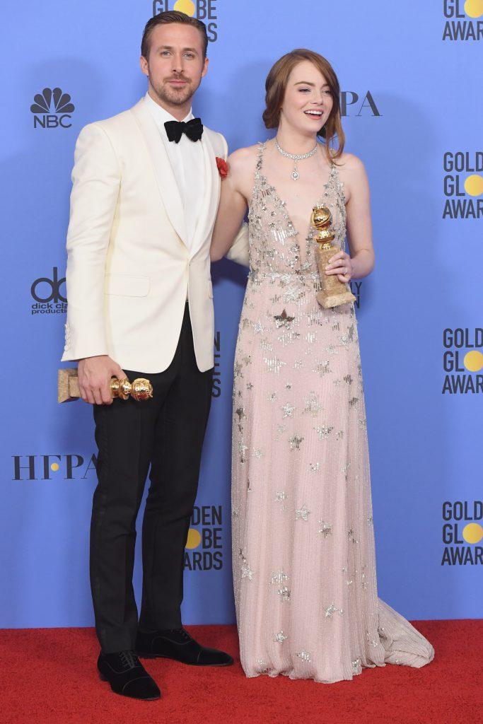 Райан Гослинг и Эмма Стоун в украшениях Tiffany & Co