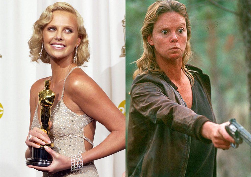 Ради оскароносной роли Шарлиз Терон поправилась на 13 кг. А на вручение премии «Оскар» она явилась вновь в своем прежнем весе.