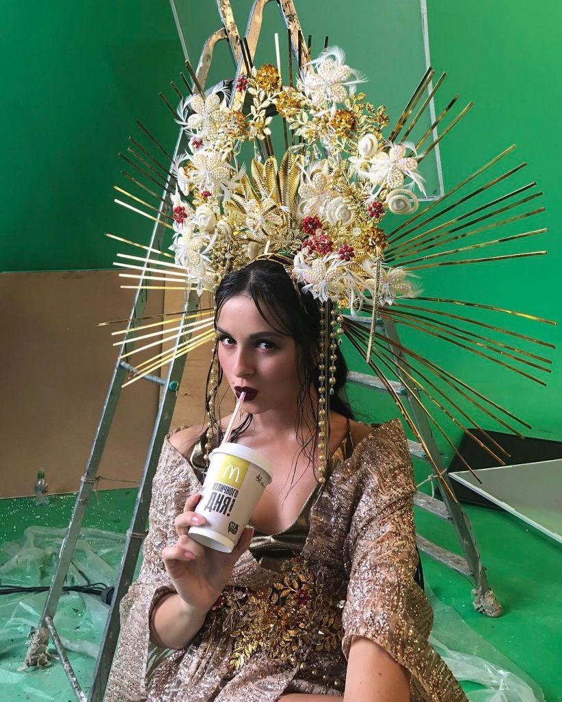 Нюша снимала новый клип