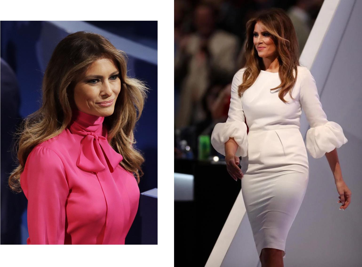 Мелания Трамп в блузке Gucci и платье Roksanda Ilincic