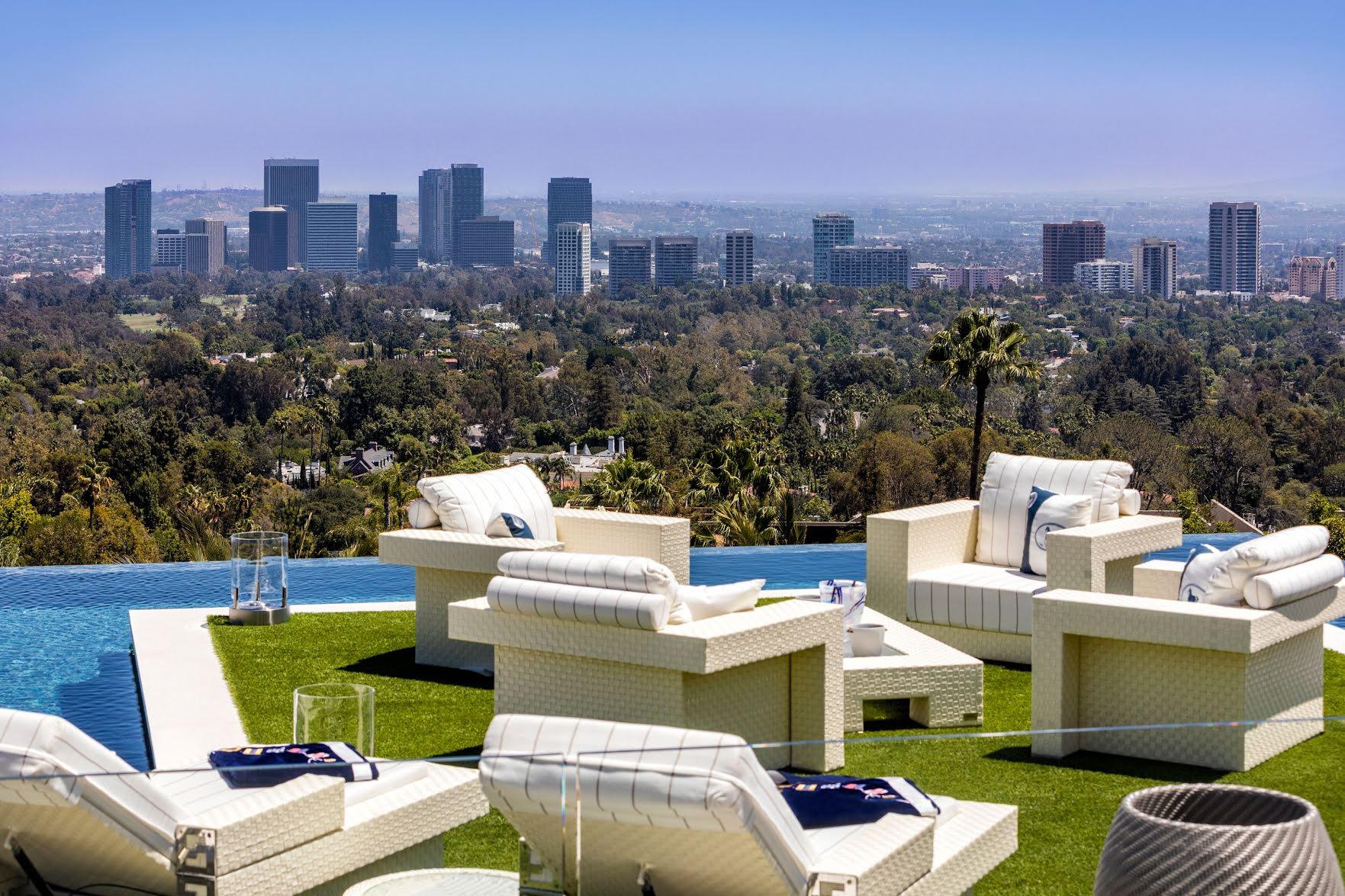 Впечатляющий вид на Лос-Анджелес