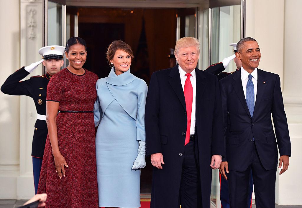 Мишель Обама, Мелания Трамп, Дональд Трамп, Барак Обама
