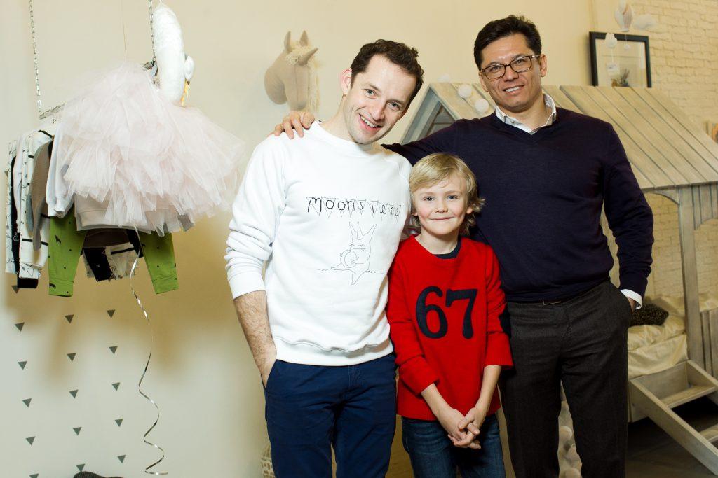 Макс Кушнер и Антон Борисевич с сыном Максимом