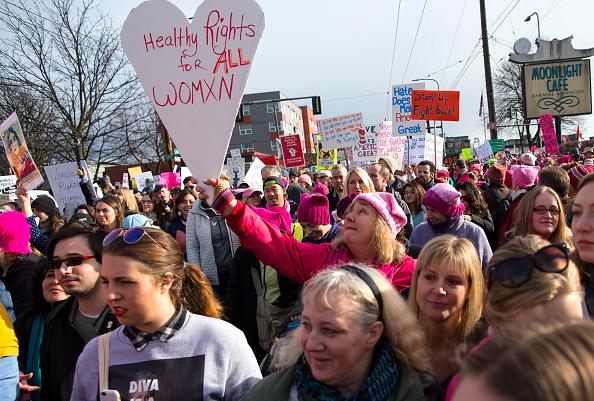 Протестующие против Трампа