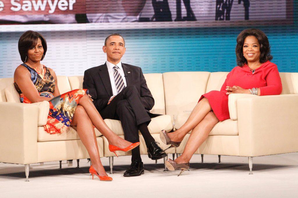 Мишель и Барак Обама на «Шоу Опры Уинфри»