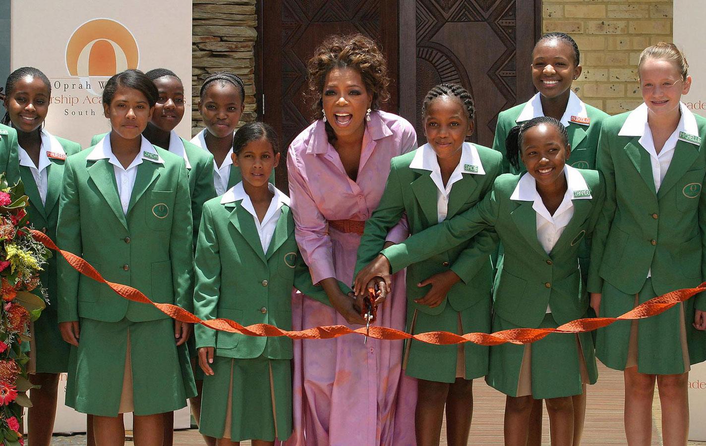 Опра Уинфри в Africa's Oprah Winfrey Leadership Academy for Girls