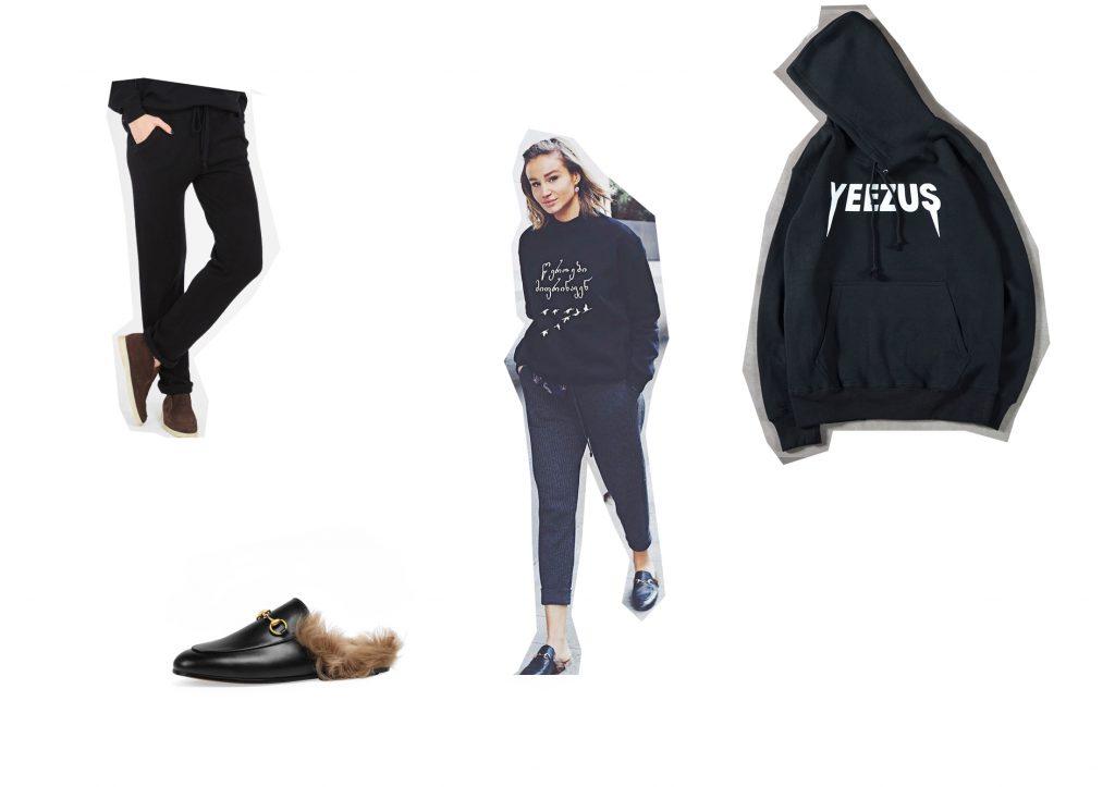 Ануки Каладзе; мюли Gucci; брюки 12 storeez; худи Yeezus